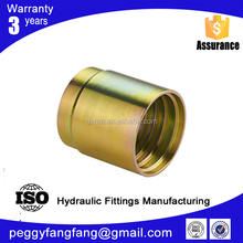 03310 threaded metal hose ferrule Non-Skive ferrule for SAE 100 R2AT/2SN hose from Ningbo factory