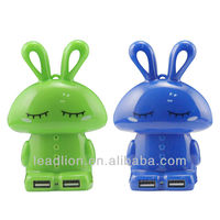 Plastic case lovely rabbit ED817 Portable Power Bank External 2600mAh Mobile USB Battery Travel Charger for Cell Phone