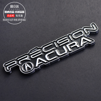 Engrave 3D branded car names and logos car emblem With Sticker