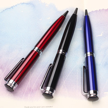 Metal pen with laser engraved smoothly shiny metal plating ball pen