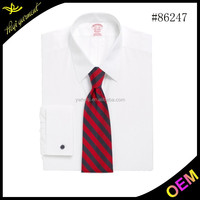 Slim fit business Men's 100% cotton elegant white shirts