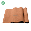 2017 Hot Sell New Premium Eco Natural Rubber Cork Yoga Mat