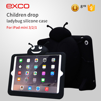 EXCO Shockproof diamond silicone case stand protective cover for iPad 3 / 2 / 1