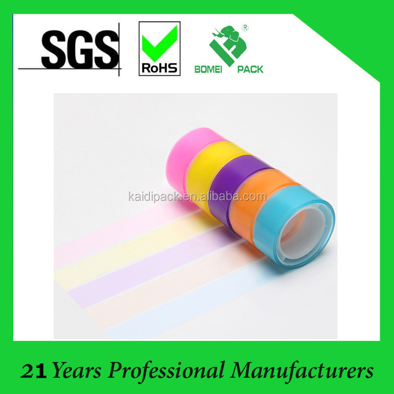 colorful tranparent adhesive tape with high quality