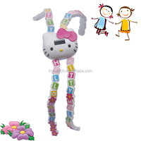 3D hello kitty silicone cartoon slap wrist on watch,kids gift