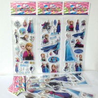 2014 POPULAR FROZEN STICKERS, 3D PUFFY STICKERS POP-UP STICKERS,PUFFY STICKER