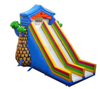 High quality kids play outdoor inflatable bouncy water slides for sale