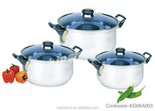 Professional Cookware Stainless Steel Stock Pot And Pan Sets