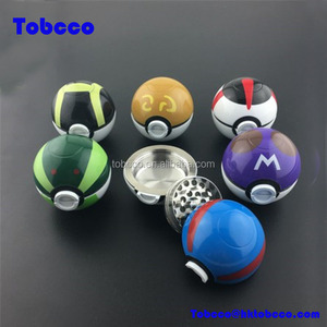 Manufacture Go Novelty Tobacco Herb Grinder Crusher Gift Box Custom Pokeball Pokemon Grinder