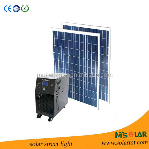 off-grid 3KW solar power unit for home electricity using