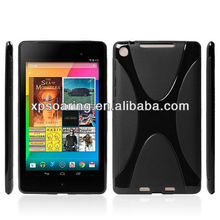 "High quality soft rubber case for Google Nexus ii 7"" tablet X tpu cover"