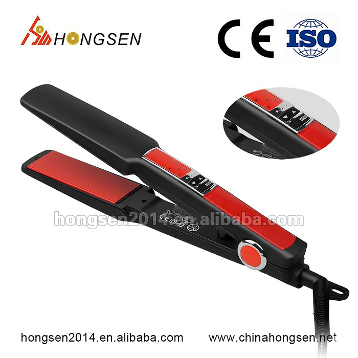 Beauty salon tools of Straight iron teeth shape Hair Straightener