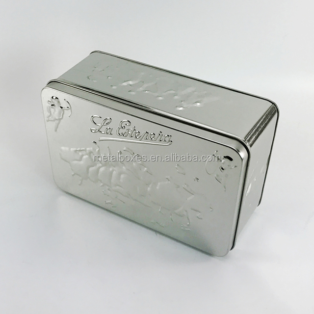 Custom Rectangular Embossed Tin Box Metal Cans From China Suppliers