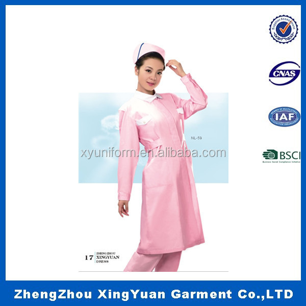 Top selling white bulk lady woven nurse uniform in bulk