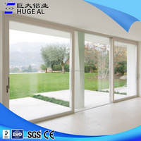 hot sale used aluminum double glazed door , large glass door ,price of doors sliding