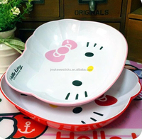 PP Plastic Type and hello kitty pink charger plates