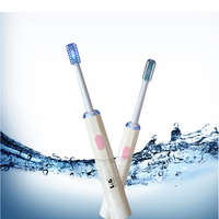 Professional Dental Bright Teeth Whitening Led Blue Cold Light Multi-Function Oral Care Battery Electric Toothbrush