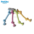cute durable braided cotton twisted rope Double Knot dog rope toy