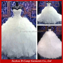 WD034 Beautiful sweetheart necklin puffy ball gown brazilian wedding dresses wholesale from china