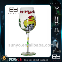 2014 New Year Painted Wine Glasses For Celebration