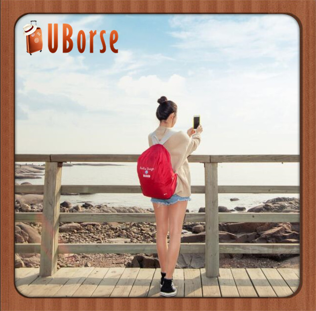 UBorse 2017 Polyester Material Promotional Cheap fashion foldable hiking backpack