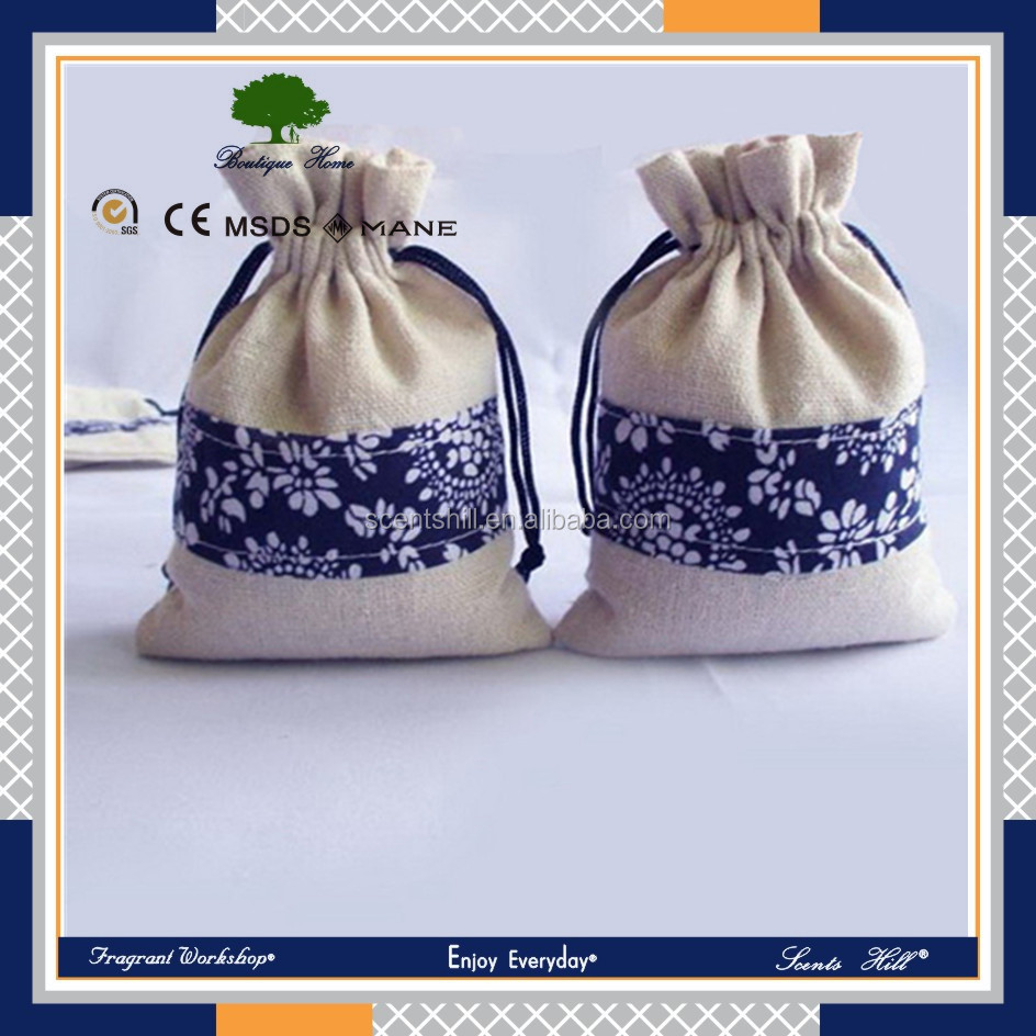 Hot sell promotion items gift california lavender scent linen sachet aroma bag