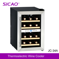 Peltier Mini Wine Chiller, Small wine display cabinet fridge beverage display cooler