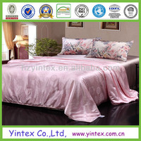 European Style Luxury Silk Floss Satin Jacquard Bedding Sets White Duvet Cover Sets , Queen King Size
