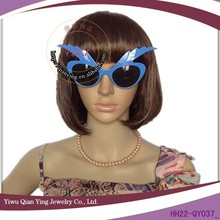 blue fancy eyebrow party glasses for teenagers