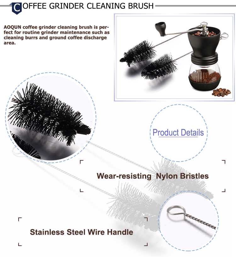 OEM Coffee Machine Brush Grinder Steam Wand Cleaning Brush