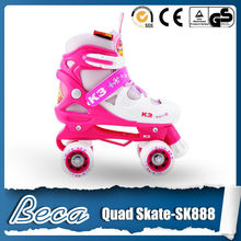 kids 3 in1 mix color quad roller skates for sale with helmet