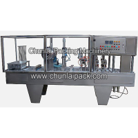 Plexi Glass Cover Yogurt Cup Filling and Sealing Machine