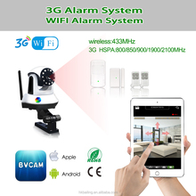 Factory supply home security baby care WIFI 3G GPRS GSM Alarm system with night vision camera Support APP View SMS CALL Alarm