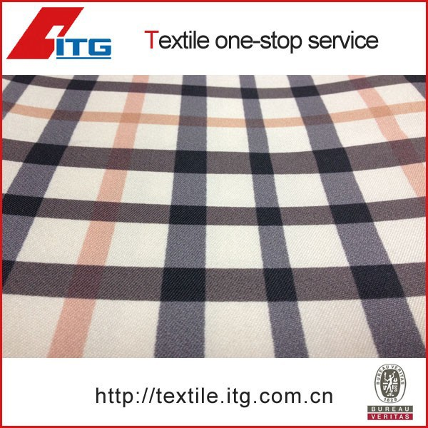 85% SILK 15% POLYESTER 28mm SILK FASHION PLAID SHIRT FABRIC FOR SHIRTS
