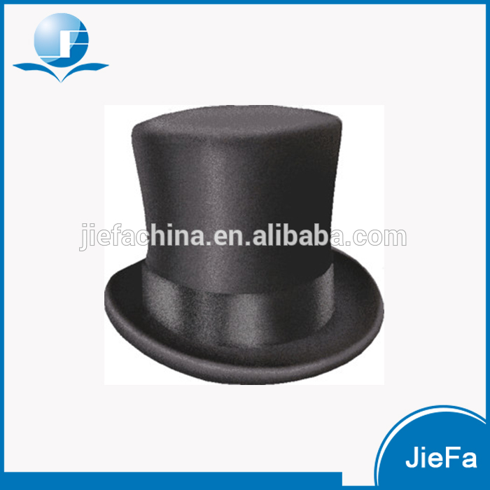 Wholesale High Quality Black Flat Top Hat for Men