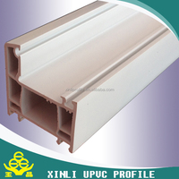 Plastic extrusion profile from chinese upvc profile manufactures double glazing beads upvc profile window