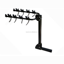 "Steel folding vertical 2 bike rack carrier for 2"" hitch receiver"