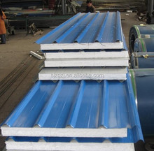 Stainless used eps cement sandwich panel roof tile sandwich panel