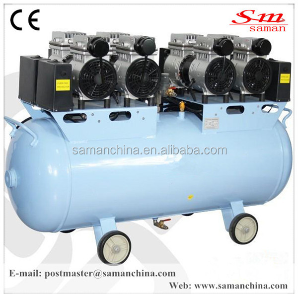 oil free silent mobile piston type air compressor