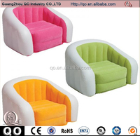 Customized durable inflatable flocked single sofa chair