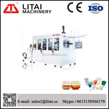 PLC servo motor control cylinder help plastic bowl cup trays thermoforming machine