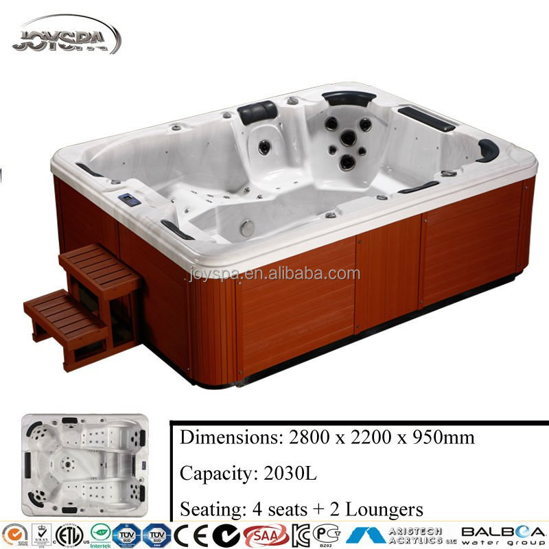 Europe style CE certification US balboa LED bubble party hot tub with sex video