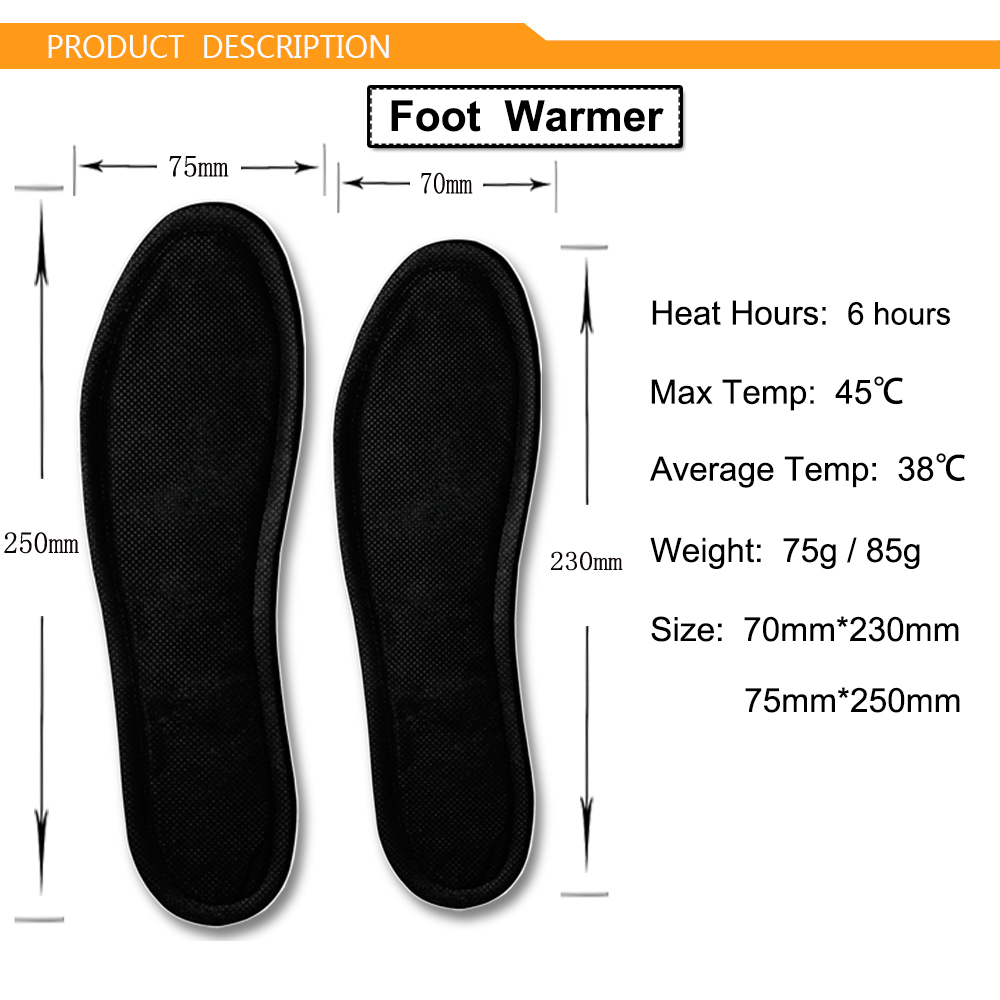 Factory Price 6 Hours Magic Black Foot Warmer