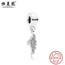 100% high quality silver bracelet charms European angle wings charm Beads fit bracelet