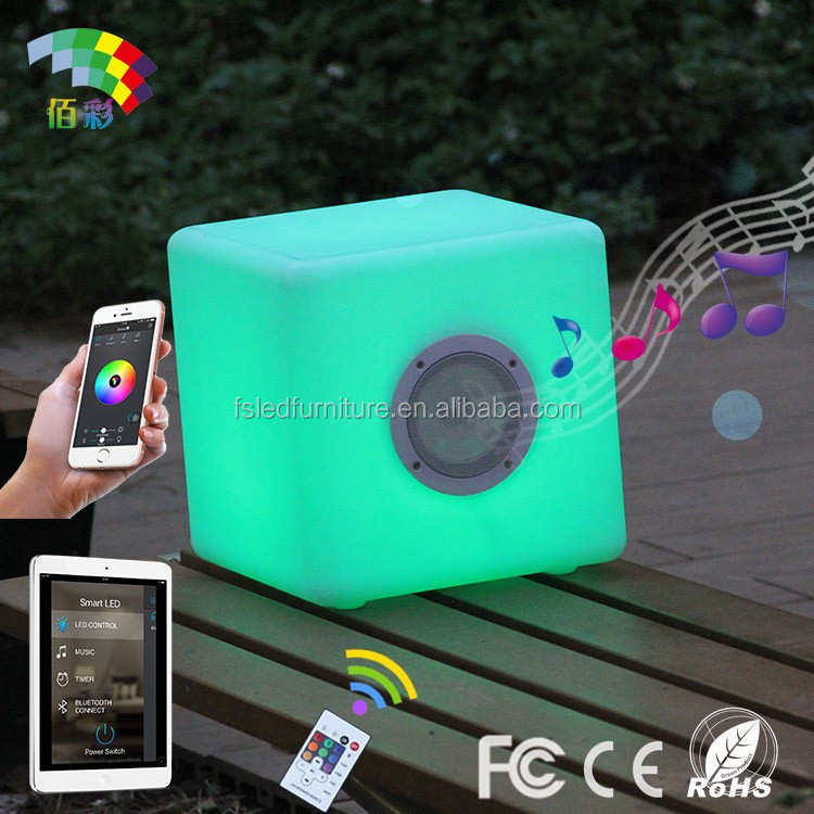 Innovative magic LED cube speaker for phone/pad with bluetooth