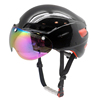 New short tail TT cycling helmet with eyes shield