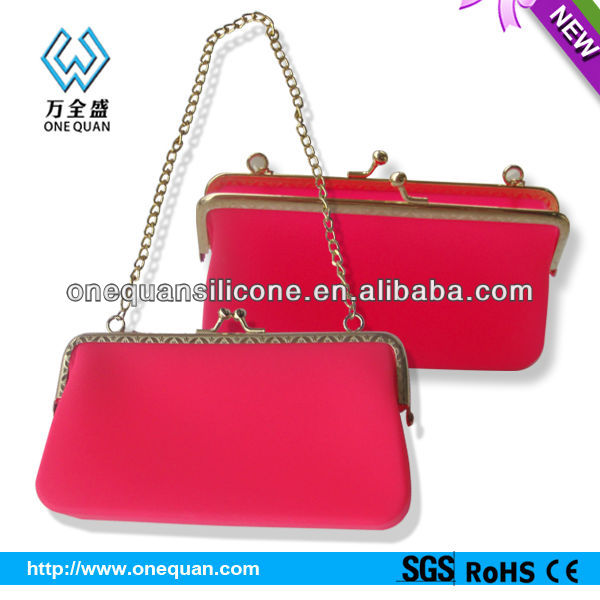 HOT !!! Vogue Long Chain Silicone Handbag