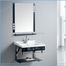 602 Stainless steel cheap wash basin of stents glass bathroom cabinet