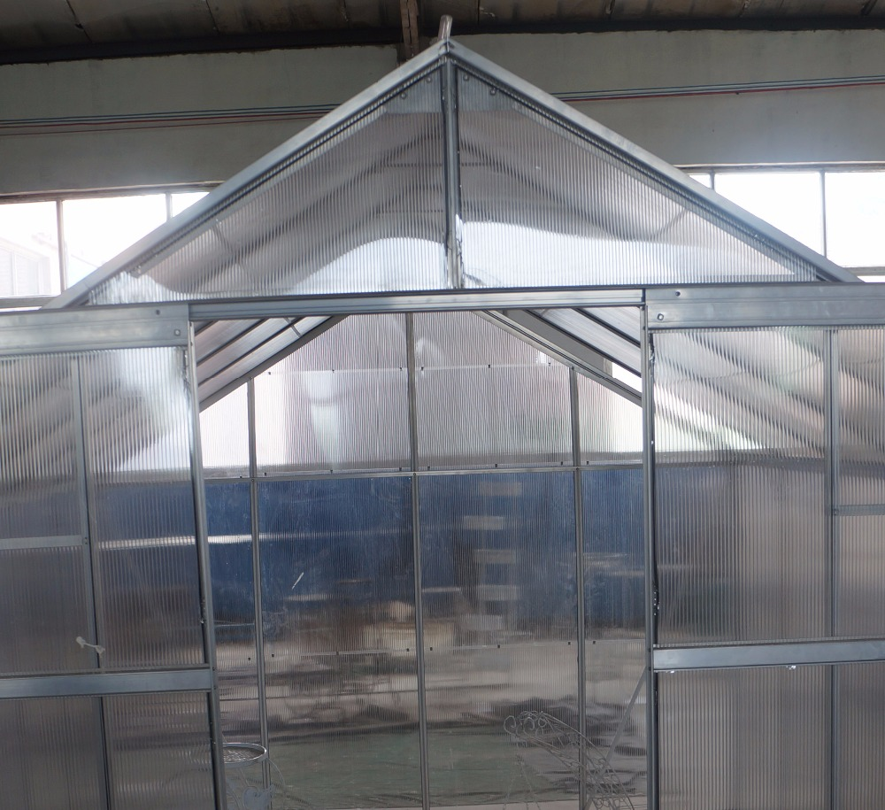 Gutter connected greenhouse with drip irrigation/flower greenhouses