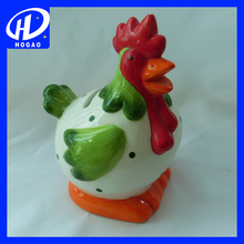 2017 top-rated ceramic coin money bank/box rooster design